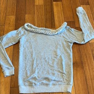 Urban outfitters gray braided neckline sweater